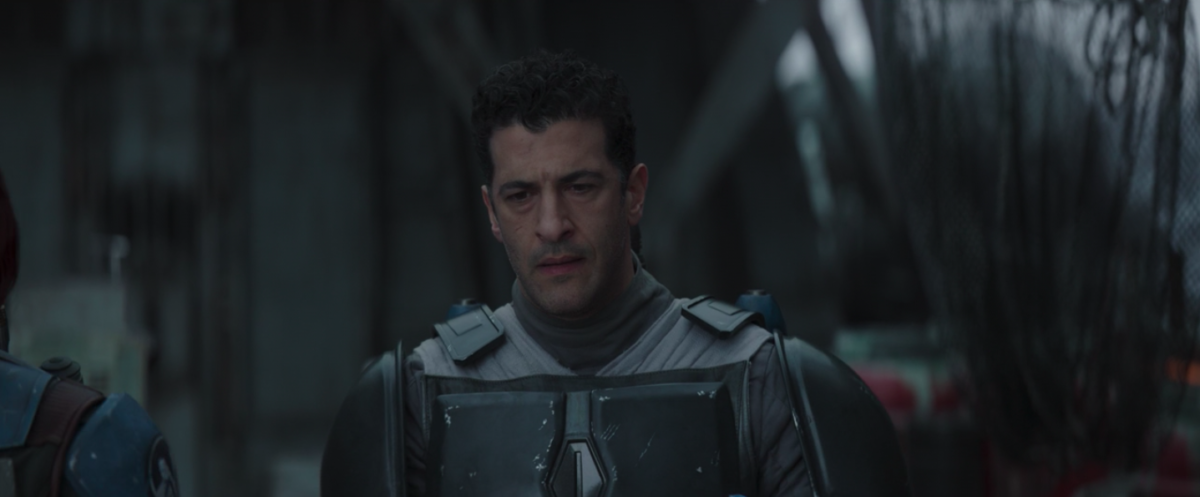 Simon Kassianides in the Mandalorian