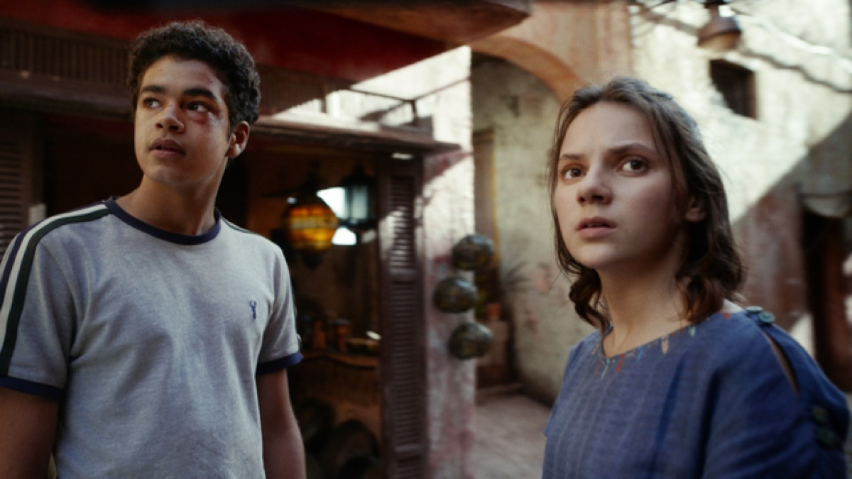 Lyra and Will on HBO's His Dark Materials.
