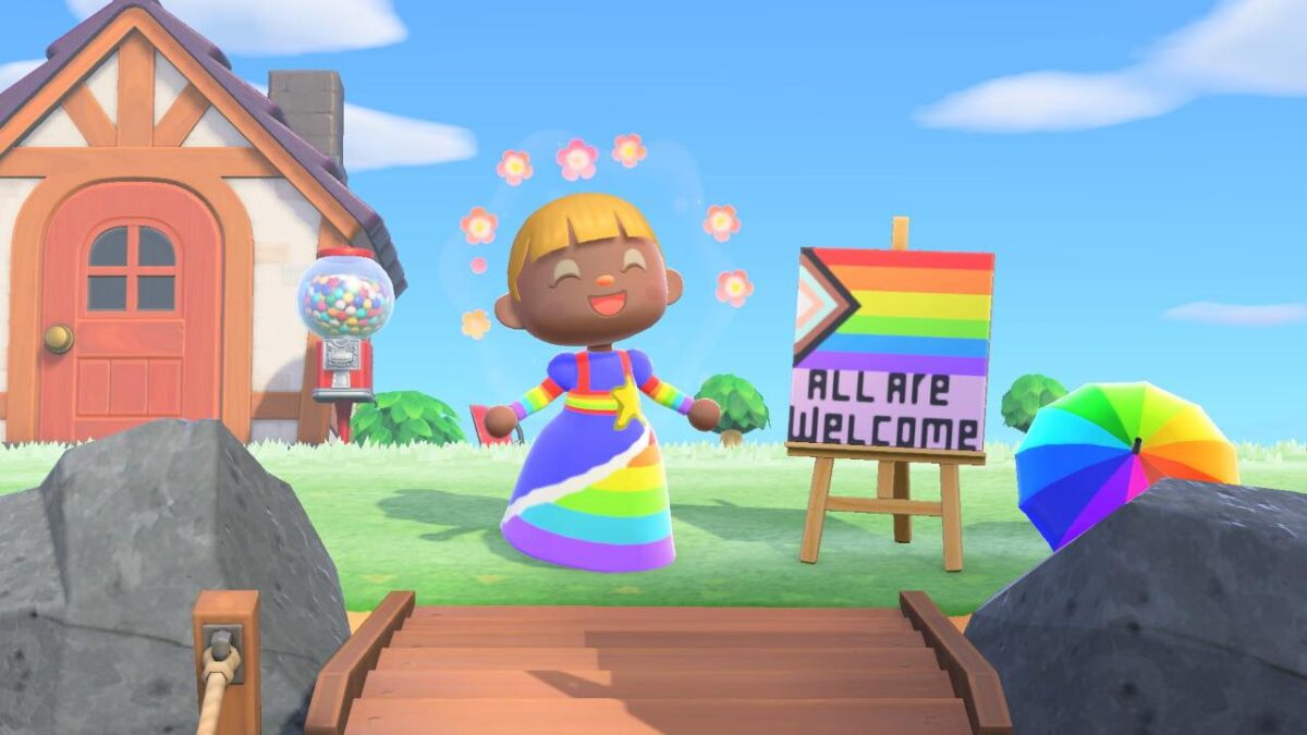 """Me on my island in """"Animal Crossing: New Horizons"""""""