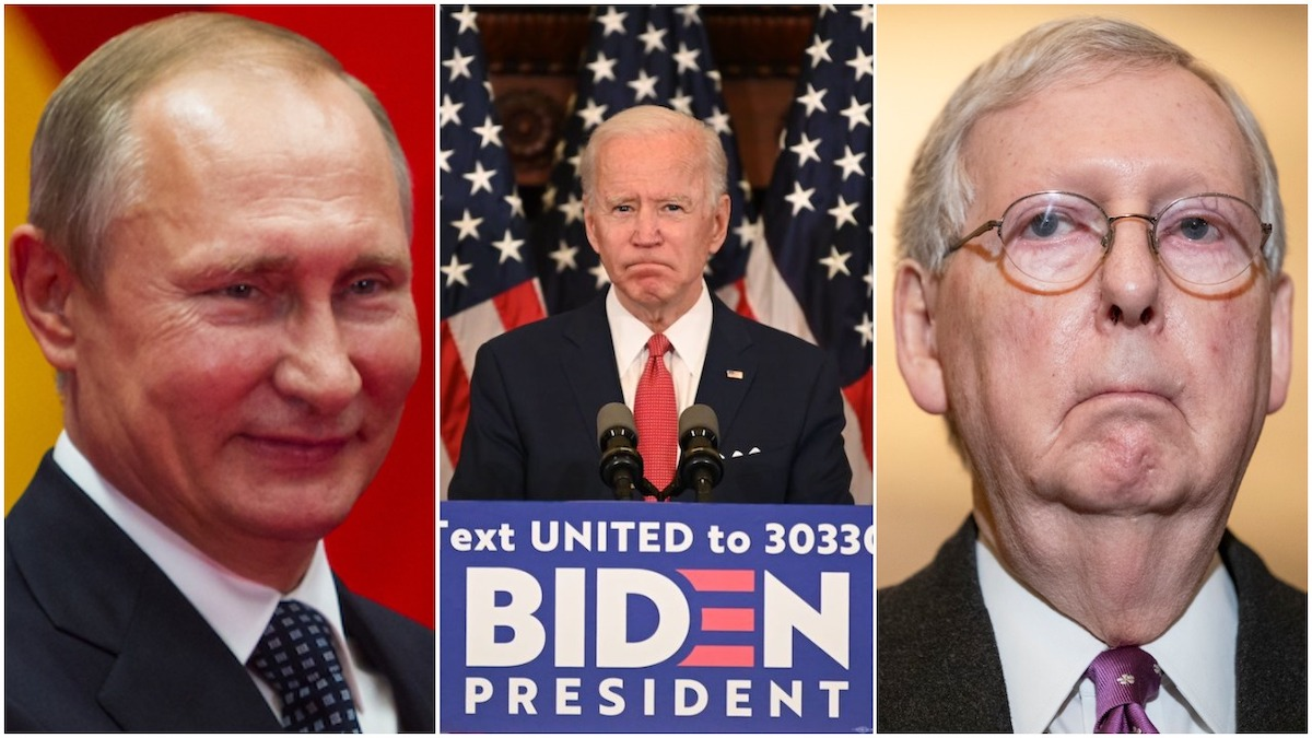 Putin acknowledged Biden's win before McConnell