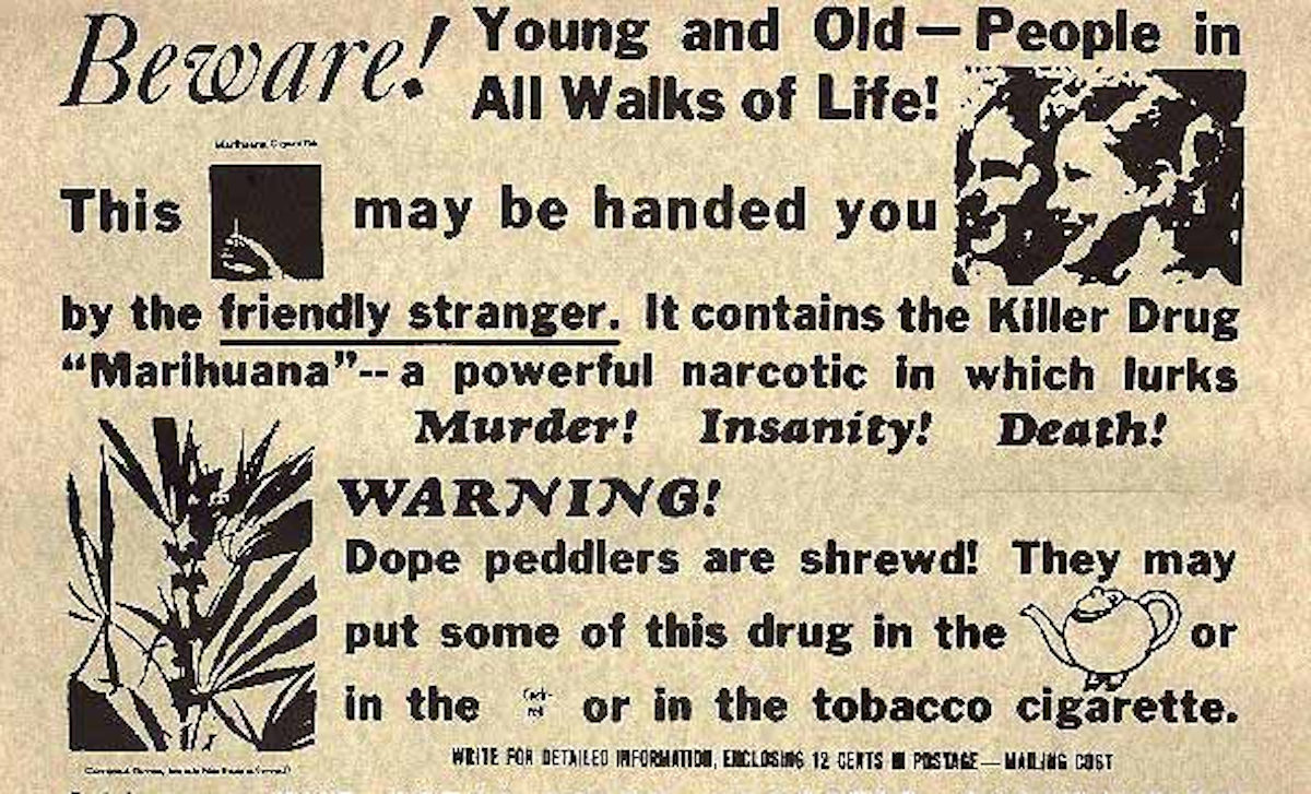 Federal Bureau of Narcotics public service announcement used in the late 1930s and 1940s