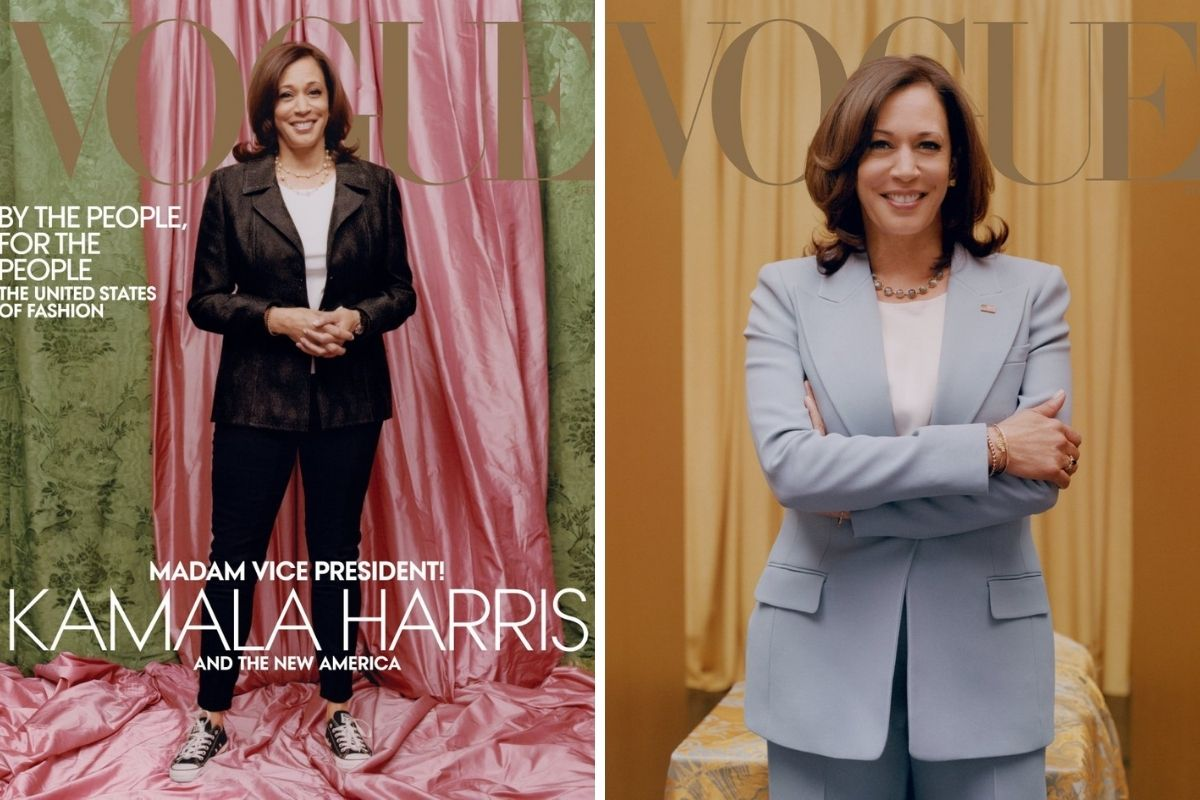Vice President Elect Kamala Harris on the cover of Vogue