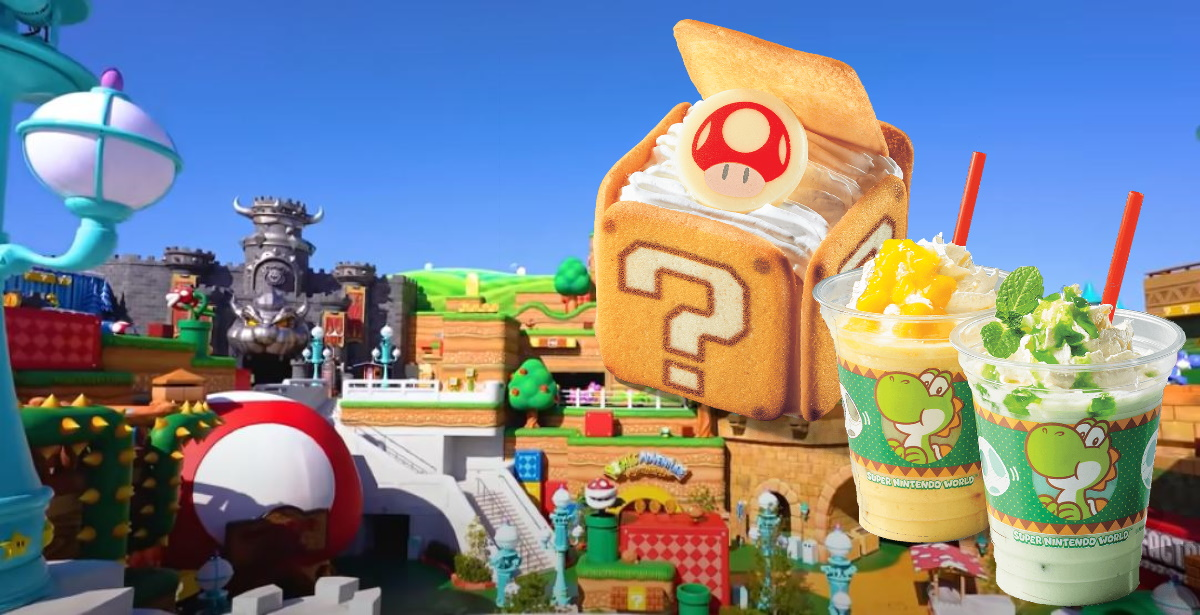 Examples of the food at Super Nintendo World