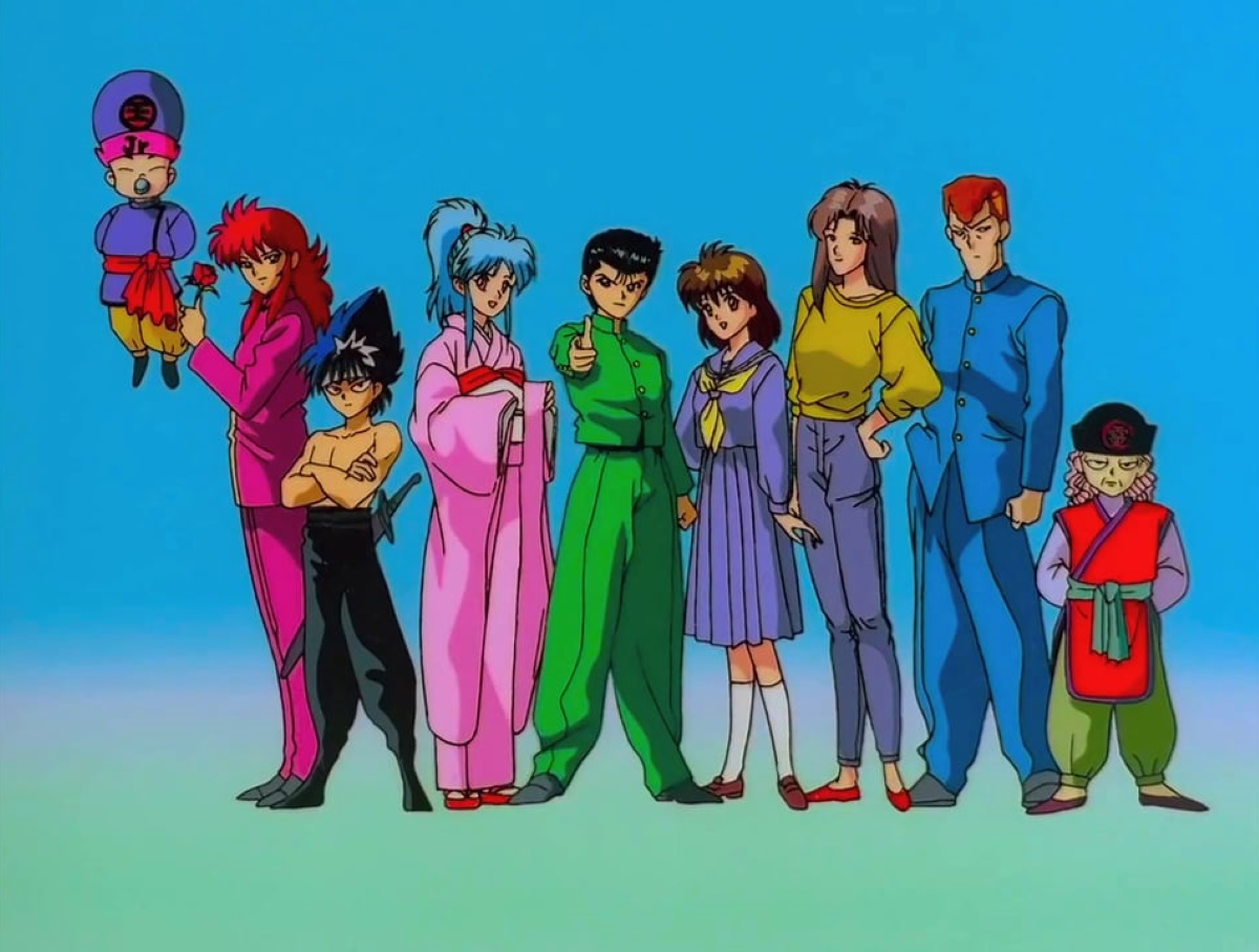 Screenshot from the opening of Yu Yu Hakusho