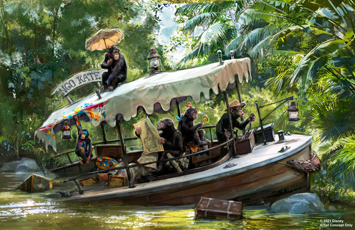 concept art for the redesigned jungle cruise