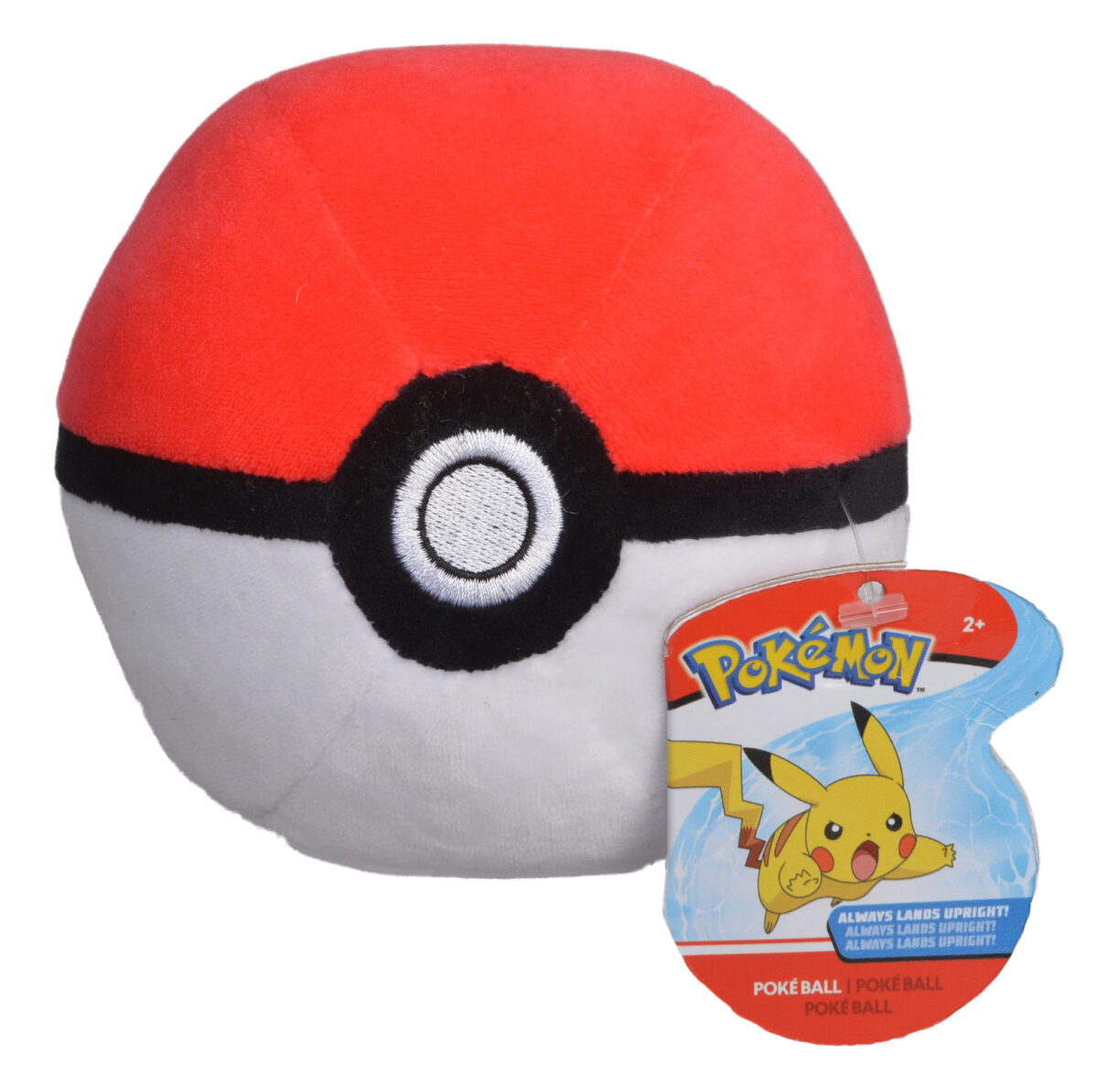 Picture of a plush pokeball
