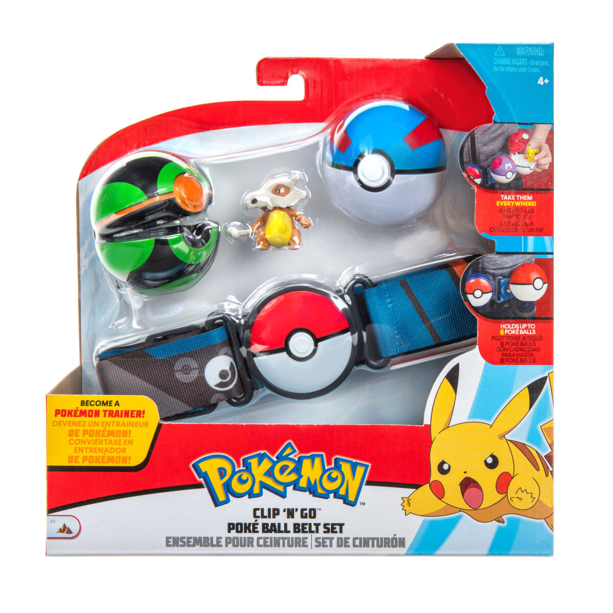 Picture of the clip Poke Ball Belt Set