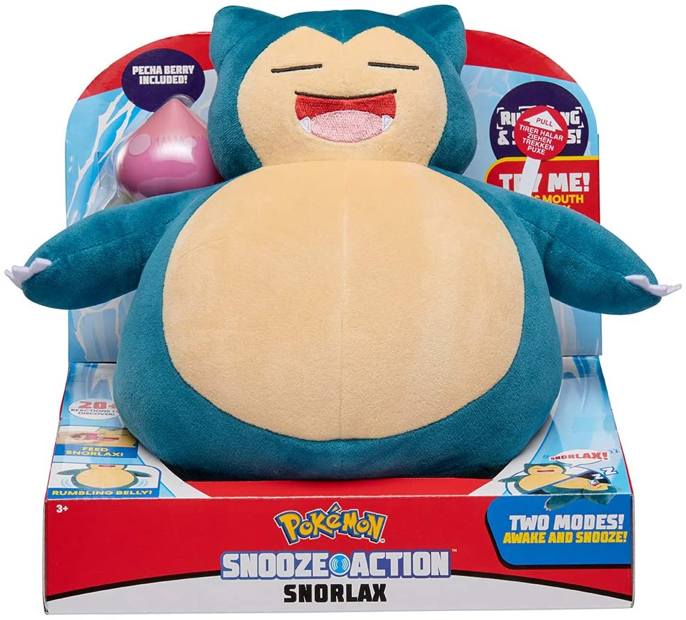 Big plush of Snorlax with Snooze Action