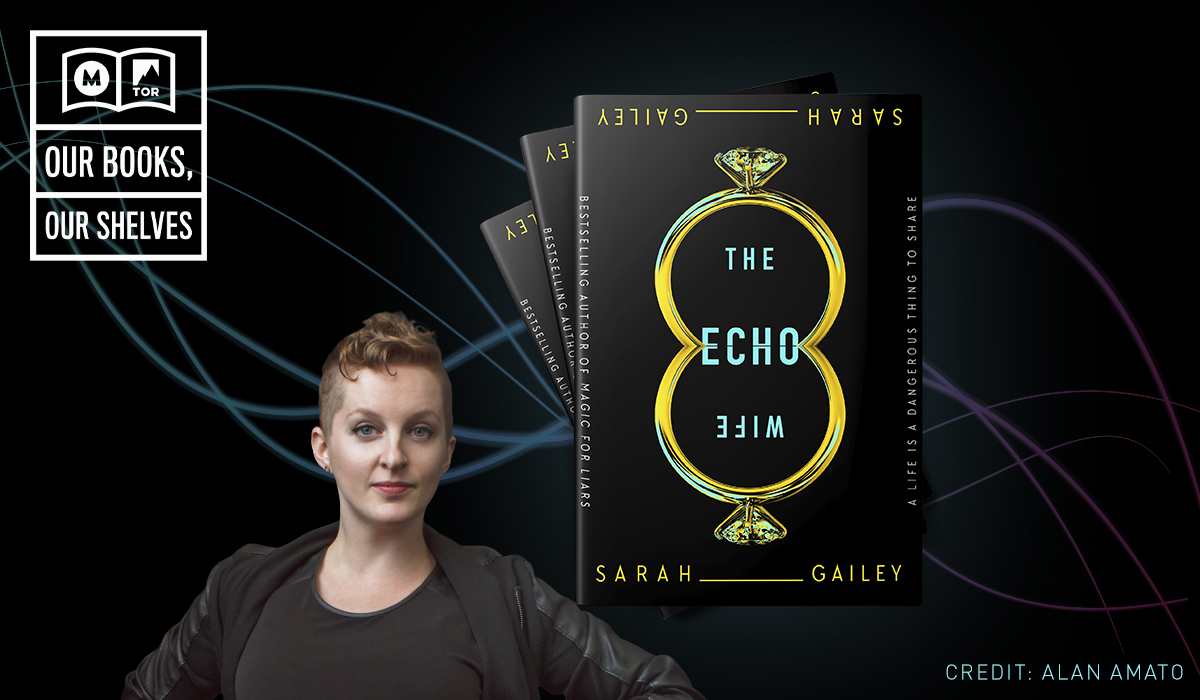 Author Sarah Gailey and her novel, The Echo Wife