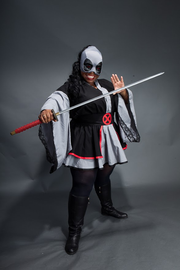 Adya Cosplay doing her X-Force Cosplay