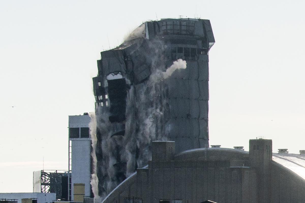 The former Trump Plaza hotel and casino is imploded
