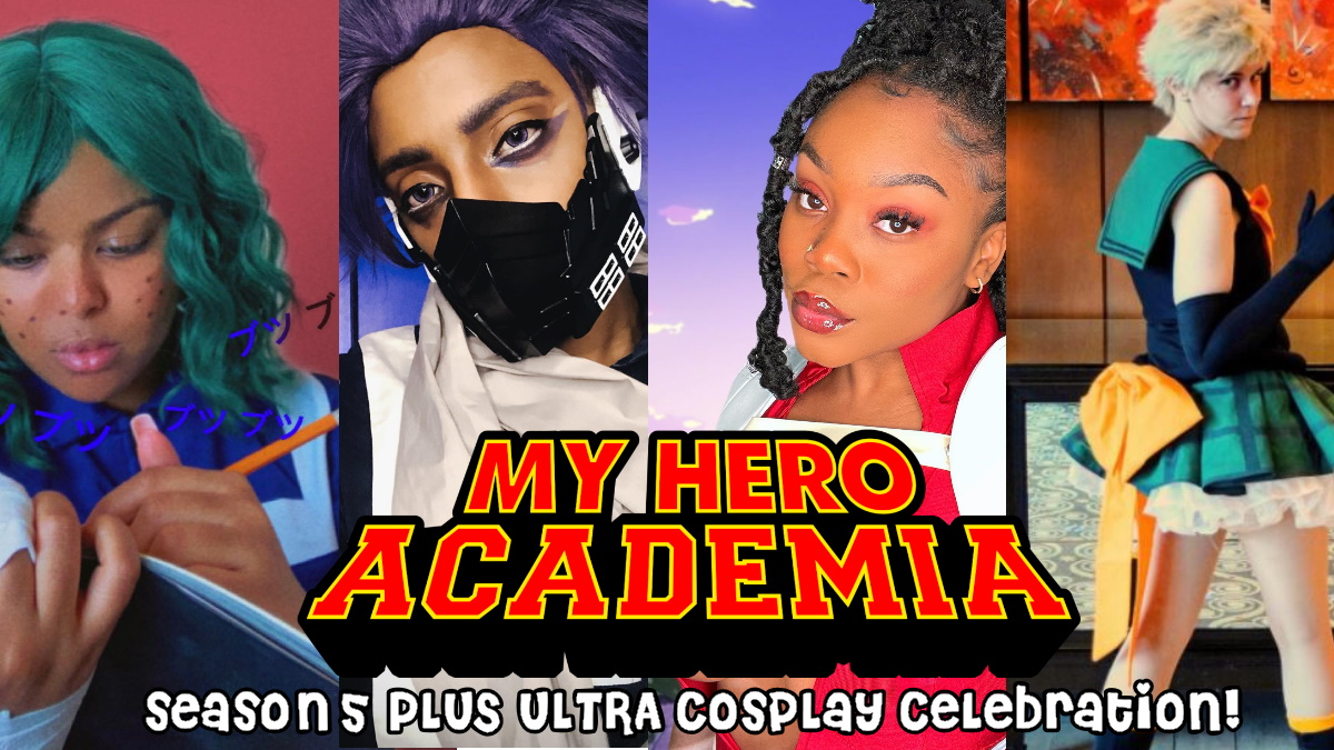 Cosplay of My Hero Academia characters by Eden Yayehyirad, Heaven's Light Cosplay, Chisom (chisdome), and Sloan (Spiral)