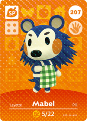 Amiibo card of Mabel