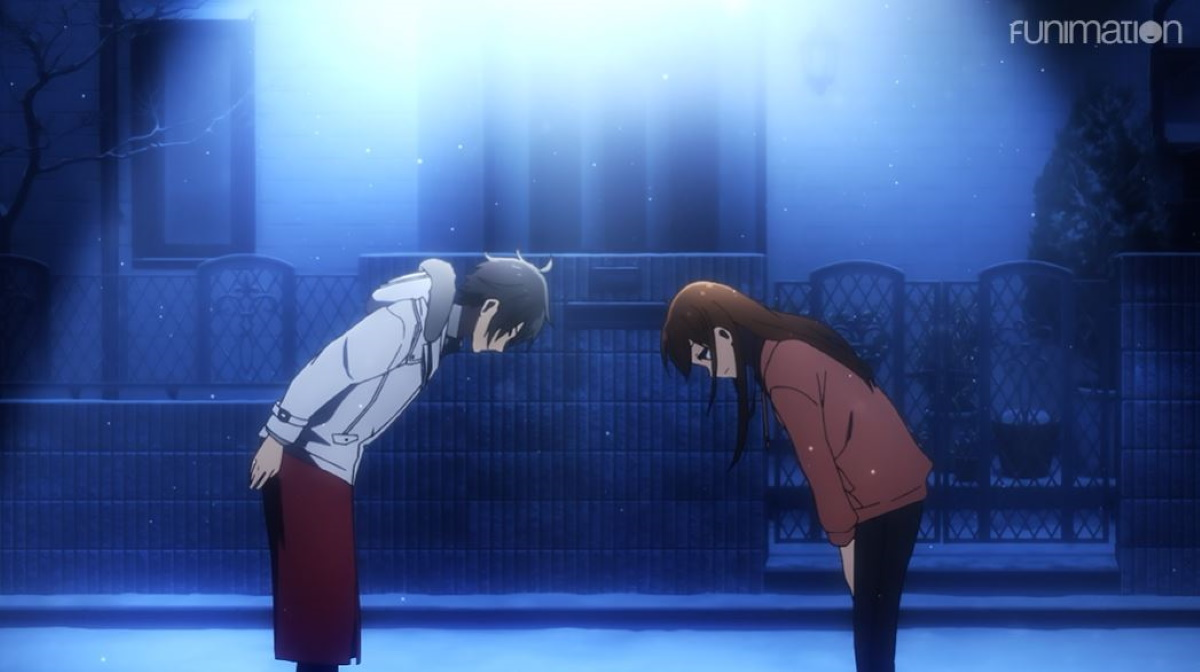 Hori and Miya bowing to each other