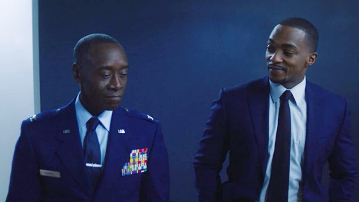 Don Cheadle and Anthony Mackie in The Falcon and the Winter Soldier (2021)