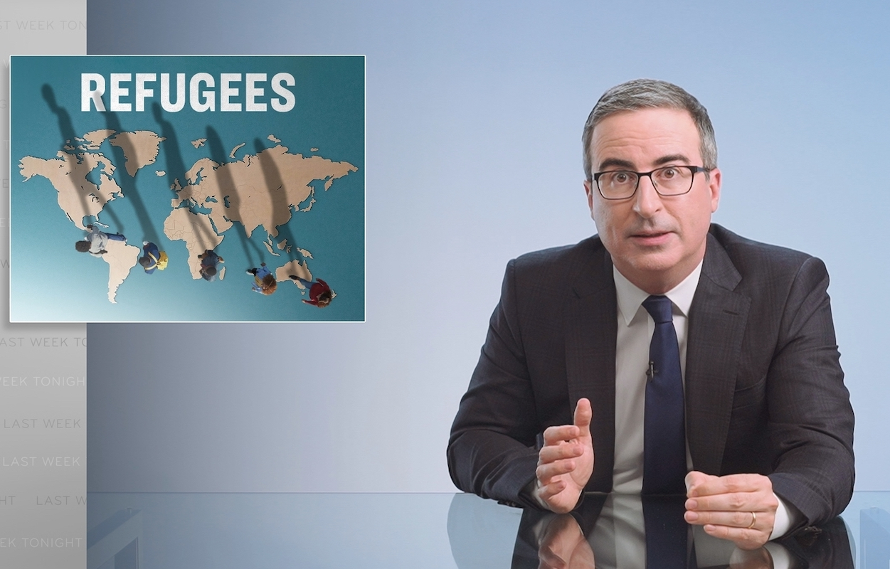 """John Oliver Slams Biden's Delay in Reversing Trump's Destructive Refugee Policies: """"Pick Up a F***ing Pen and Do the Right Thing"""""""