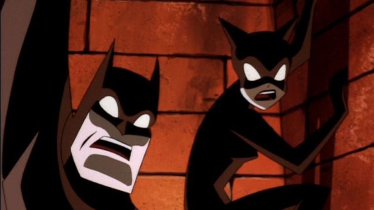 Batman and Catwoman shocked