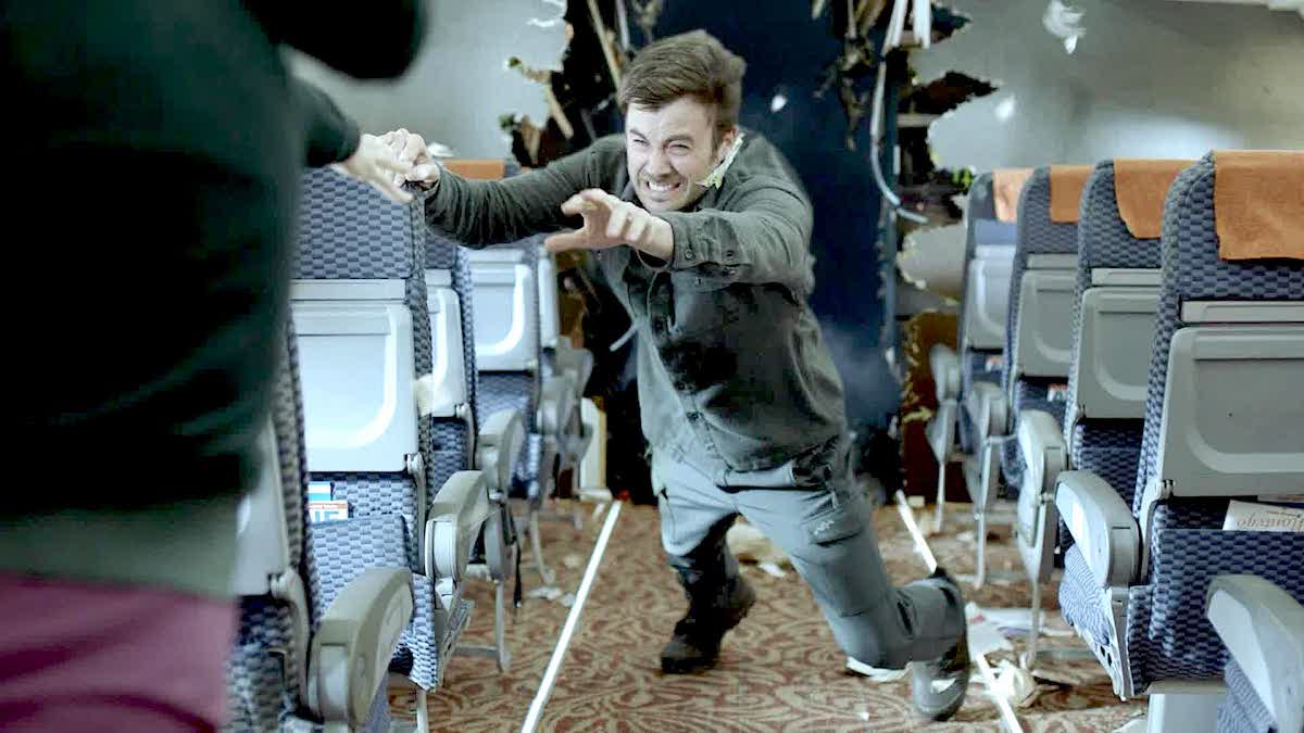 Actor Matt Long almost gets sucked out of a plane as Zeke Landon on 'Manifest'