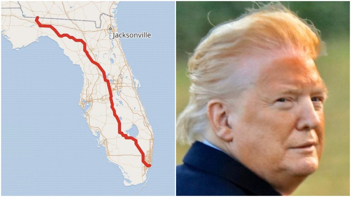 A map of U.S. Route 27 and Donald Trump