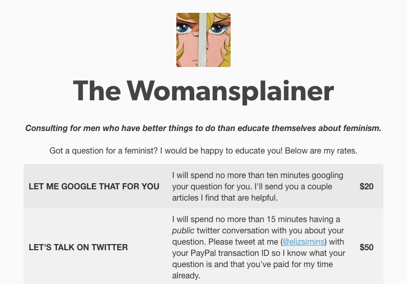 The Womansplainer