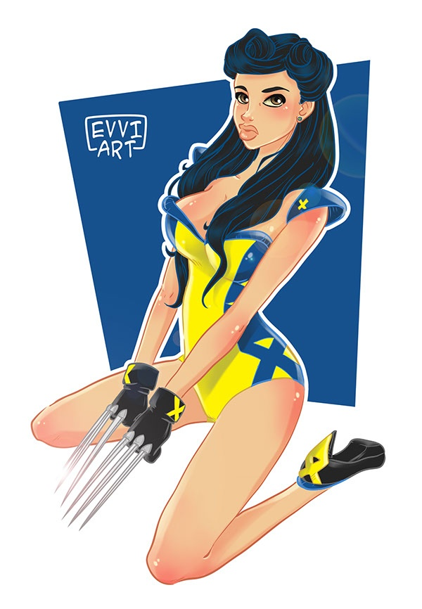 Bonus Pin-Up Wolverine