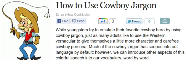 How To Use Cowboy Jargon