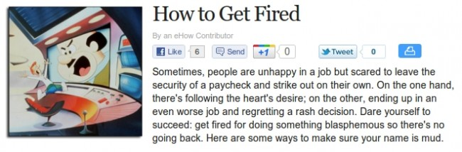 How To Get Fired
