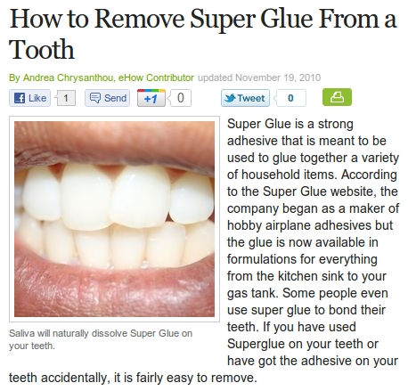 How To Remove Superglue From A Tooth