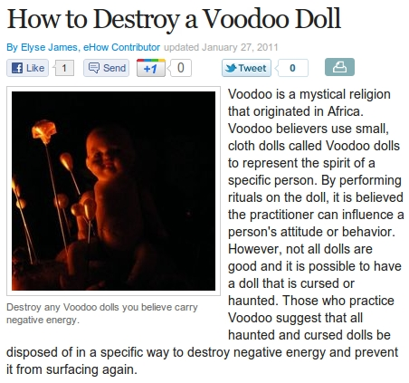 How To Destroy A Voodoo Doll