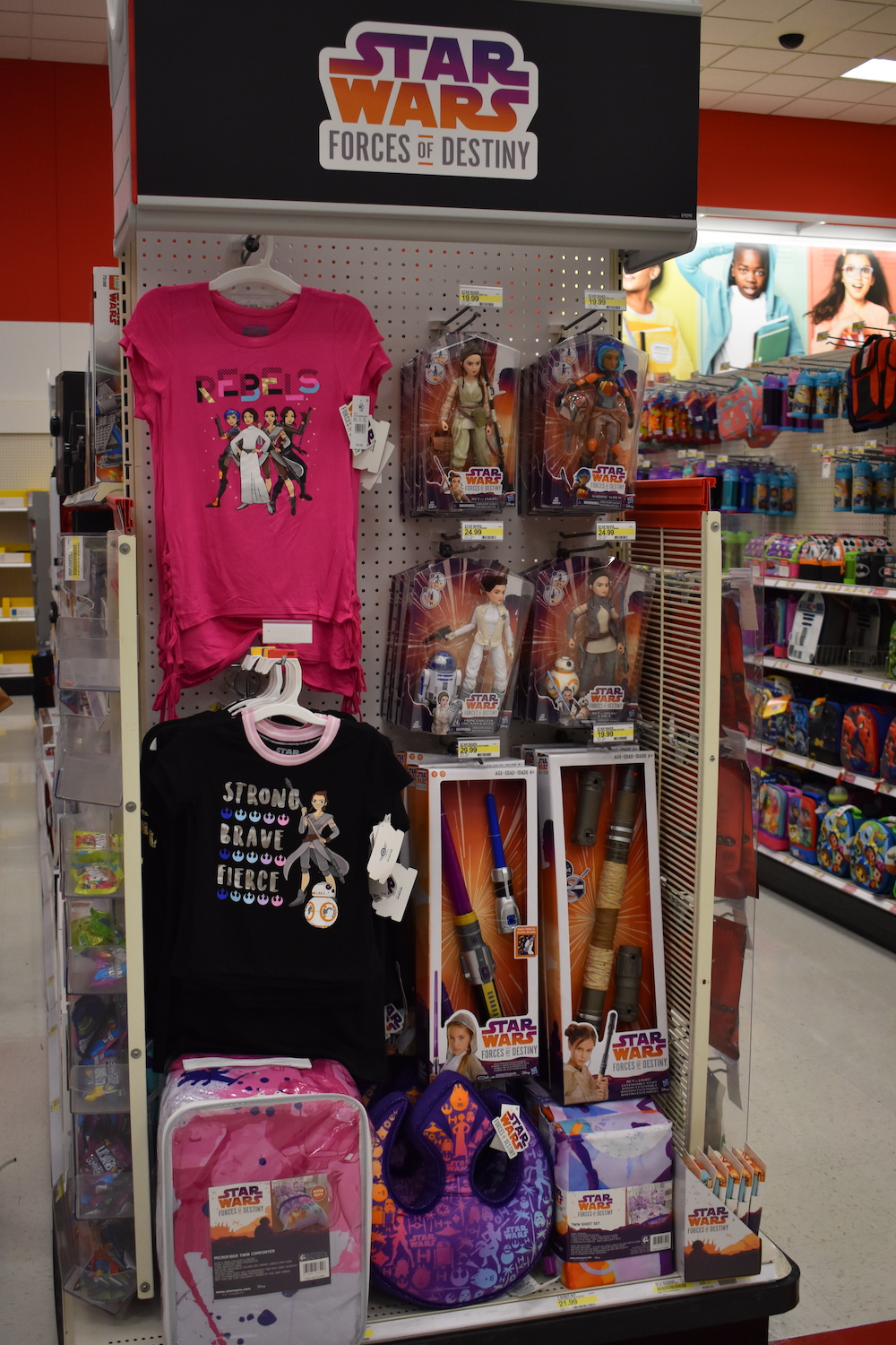 T-shirts and some of the figures of female characters