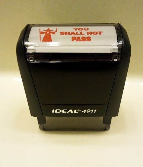 You Shall Not Pass Stamp