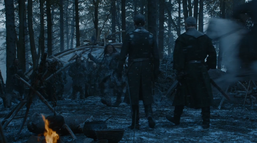 Stannis not being bothered by the dude who tried to kill him
