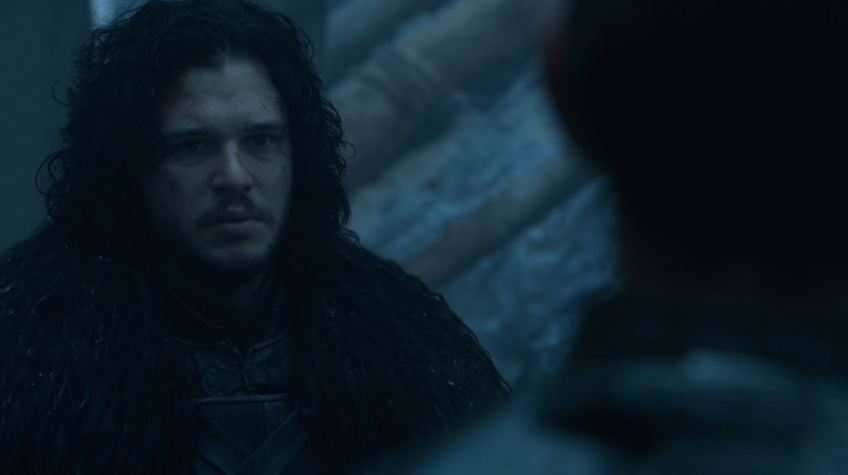 Jon acknowledging Stannis as the one true king of Westeros