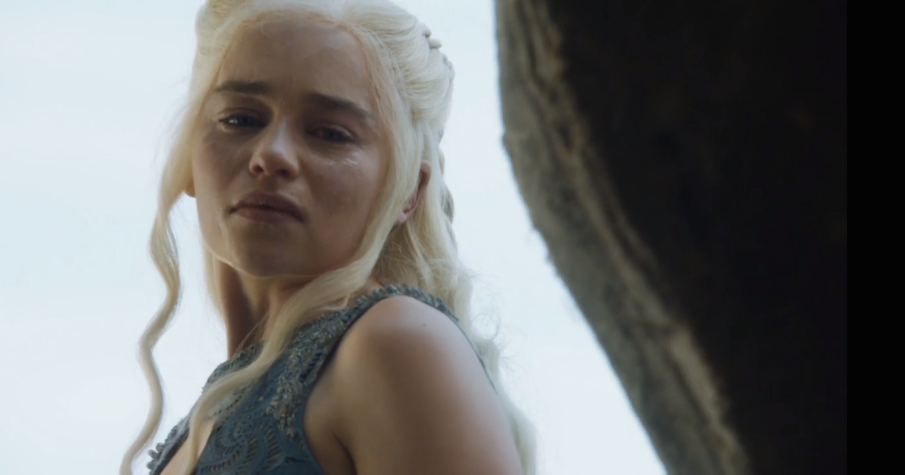 Dany looking back