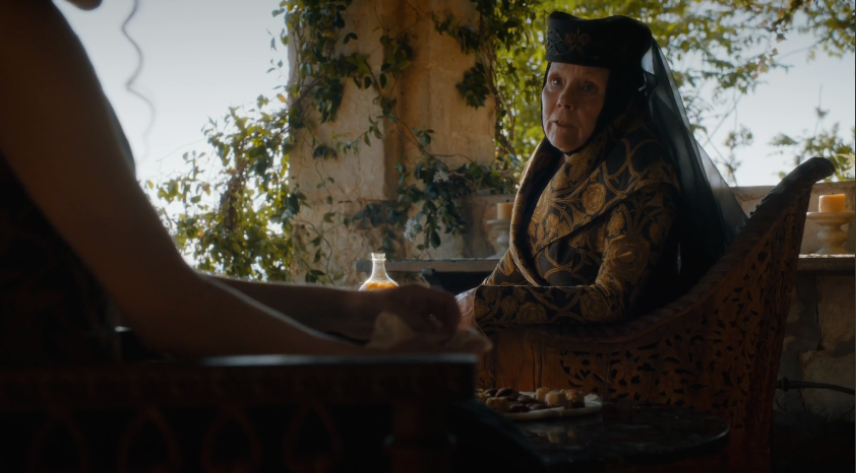 4x03, Olenna giving Joffrey shit for daring to get killed... BY HER
