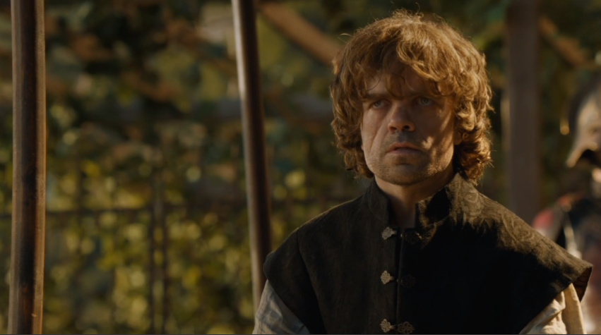 4x08, Tyrion's 'STOP. MONOLOGUING' look.