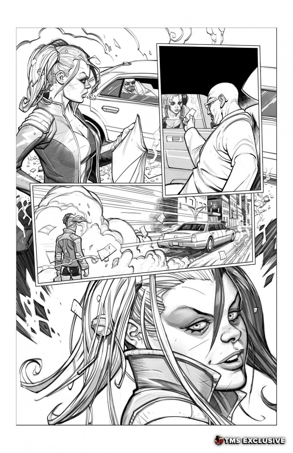 Harley Quinn Vol. 1: Hot in the City Sketches & Layouts