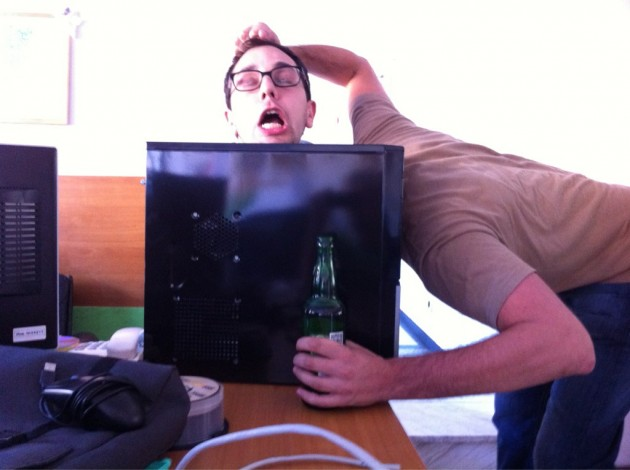 Beer and CPU Tower