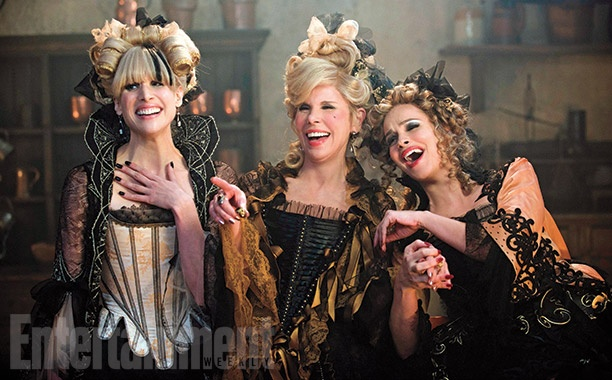 Christine Baranski, Lucy Punch, and Tammy Blanchard as Cinderella's stepmother and stepsisters