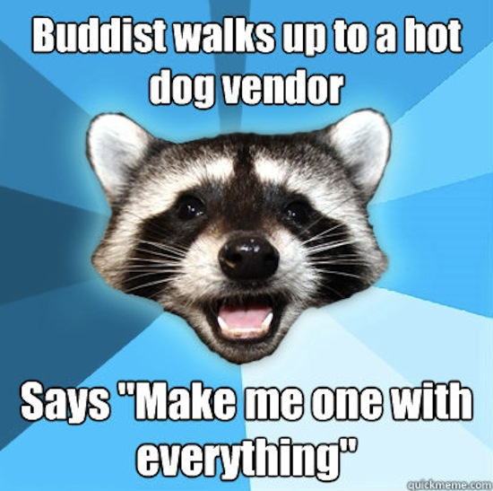 The Buddhist and the Hot Dog Vendor