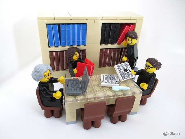 LEGO Justices at the Library