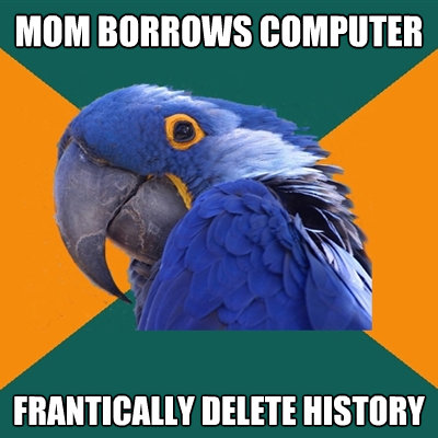 Mom Borrows Computer