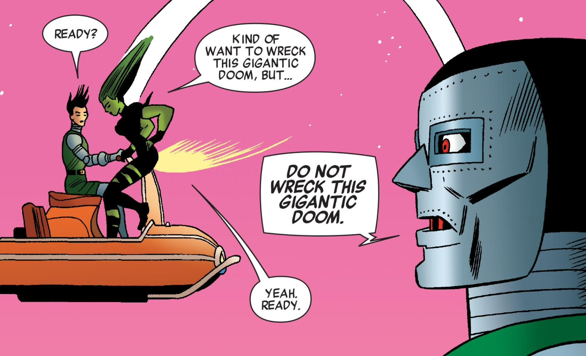 She-Hulk and the Gigantic Doombot