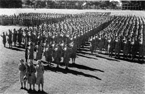 Swearing In in 1943 of US WACs
