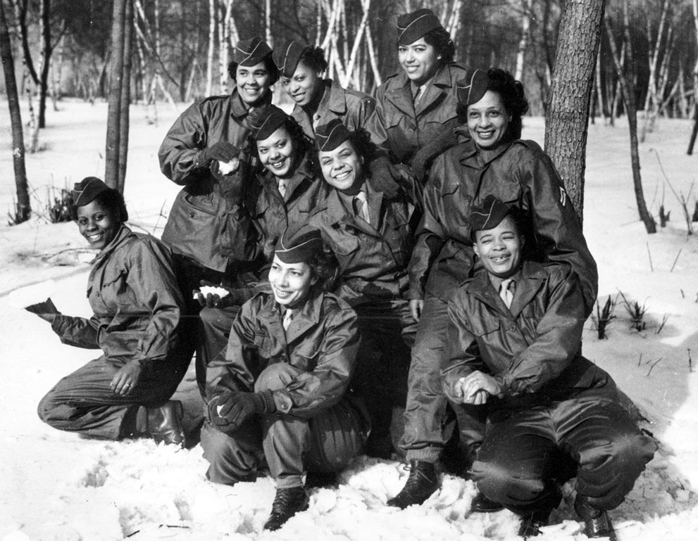 The First African American Women Sent overseas to serve on the ground in Europe.