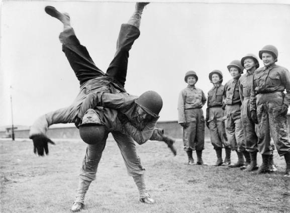 Army Nurses being trained in Hand to Hand Combat