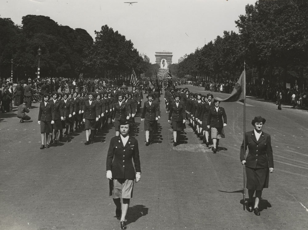Parade to honor the creation of the WACs on the anniversary of their official creation.