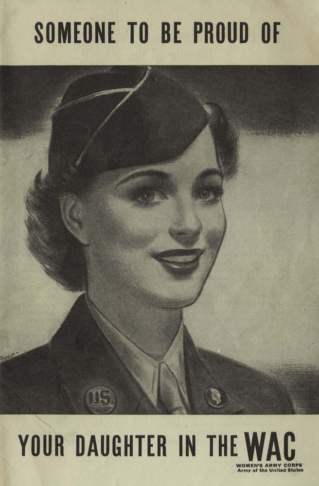 Brochure cover for WACs given to parents of daughters considering joining the service