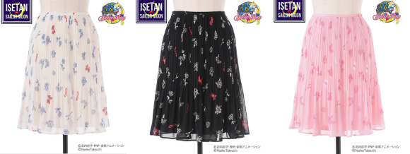 Skirts with masks, Moon Sticks, ribbons, and roses