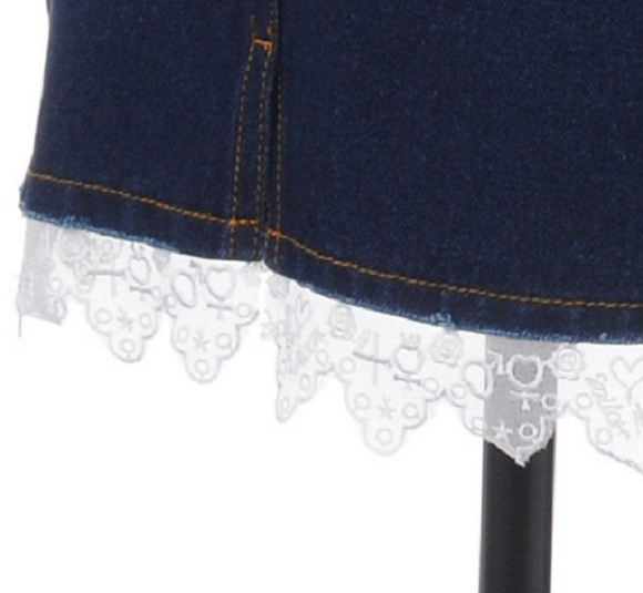 Skirt with Inner Senshi lace trim
